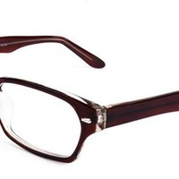 Isabella Eyeglasses with Grey Acetate Rectangle Full Frame/Rim Frame