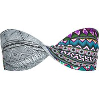 Hurley Women's Tribal Fusion Twist Bandeau, Multi, Medium