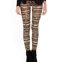 Ocean Wave Tribal Leggings - 2020AVE