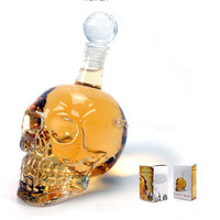 Crystal Skull Liqour Bottle 320ml Party Drink Bar Novelties Gift Vodka Spirits