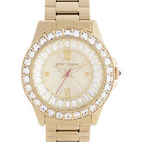 Betsey Johnson Watch, Women&#x27;s Gold Tone Stainless Steel Bracelet 40mm BJ00004-16 - All Watches - Jewelry &amp; Watches - Macy&#x27;s