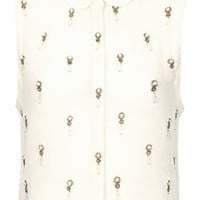 Petite Regal Embellished Shirt - Going Out  - New In