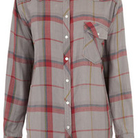 Longsleeve Stud Check Shirt - Tops  - Clothing