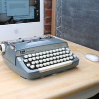 USB Typewriter Computer Keyboard - Smith Corona Super Sterling (Gunmetal Grey)