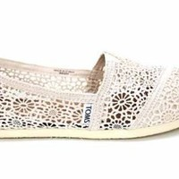 Amazon.com: F1670Nat Toms Classics Womens Crochet Espadrilles Shoes Us 7 Uk5: Shoes