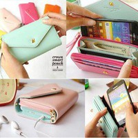 Crown Smart Pouch Multi propose envelope Purse Wallet For Galaxy S2,S3,iphone