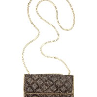 BCBGMAXAZRIA Handbag, Sofia Snake Print Quilted Mesh Shoulder Bag - All Handbags - Handbags &amp; Accessories - Macy&#x27;s