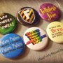 PINTEREST SALE- Six A Very &quot;Wizard&quot; Musical 1&quot; Pinback Buttons or Magnets- AVPM