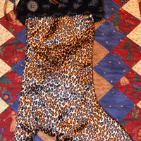 Fancy Leopard Print Christmas Holiday Stocking Heel/Boot Fill with goodies for perfect gift