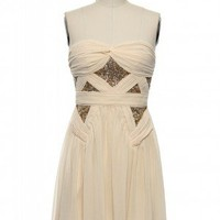 Tip of the Chrysler Dress in Cream
