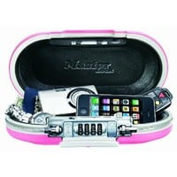 Master Lock 5900DPNK Portable Personal Safe, Pink