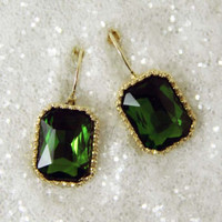 Captured Dreams Earrings in Emerald, Sweet Affordable Jewelry