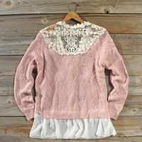 Sleepy December Sweater in Pink, Sweet Bohemian Sweaters
