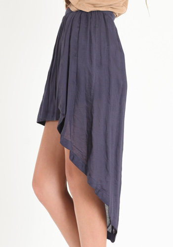 On the Loose Asymmetrical Skirt in Navy: ThreadSence.com, Your Spot For Indie Clothing  Indie Urban Culture
