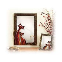 CAT FRAMED LARGE METAL WALL MIRROR from Taylor Gifts