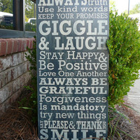 Family House Rules VERSION 2 Subway Sign  by ExpressionsWallArt