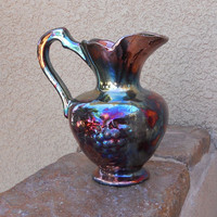 Raku The Art Of Fire Pitcher one of a kind Free by Artman1 on Etsy