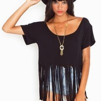 On The Fringe Crop Tee in  Clothes at Nasty Gal