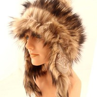 New Knit Furry Trooper Trapper Bomber Beanie Ear Flap Pom Pom Ski Hat