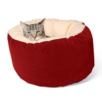 Round Microfiber Cat Bed - Plow & Hearth