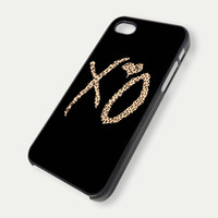 The Weeknd XO Design Leopard - iPhone 4 Case, iPhone 4s Case and iPhone 5 case FDL7DC