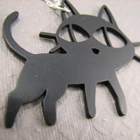 Trigun Cat Necklace Kuroneko Anime Perfect for by casstasstrophe