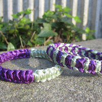 Set of 2 Purple and Green Bangles