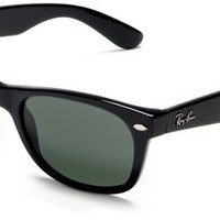 Amazon.com: Ray-Ban RB2132 New Wayfarer Non-Polarized Sunglasses,Black Frame/G-15-XLT Lens,55 mm: Ray-Ban: Clothing
