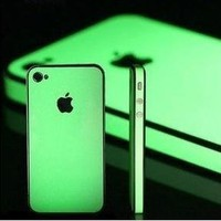 iphone Glow in the Dark Luminescent Skin Full Body Sticker Bumper Side iPhone 4G 4S