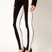 Leggings with Monochrome Panels