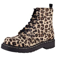 TUK Anarchic Faux Fur Leopard Boots - TUK Shoes