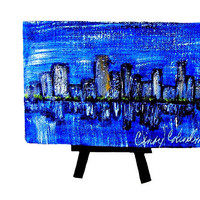 City Scape Small Original Painting with by MyDifferentStrokes