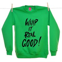 Street Market — Ohh Deer - Whip it Real Good - Green Sweater By Lynnie Zulu
