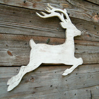 Reindeer White Christmas Wood Winter Holiday by SlippinSouthern