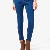 Stretchy High-Waisted Zippered Skinnies | FOREVER21 - 2030188016