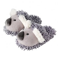 Aroma Home Women's Fuzzy Koala Slippers (Grey)