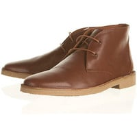 &quot;Nevada&quot; Leather Desert Boots - Desert Boots - TOPMAN USA