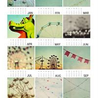 2013 mini carnival calendar, 3.5x5, fine art photography