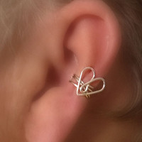 Tender Heart Ear Cuff/ Choice of Colors