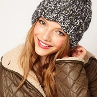 ASOS Chunky Mixed Knit Boyfriend Beanie at asos.com