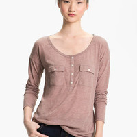 Rubbish® Two Pocket Henley (Juniors) | Nordstrom