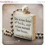 BIG SALE: Alcott (Books) - necklace Charm handmade with Scrabble Wood Tile ... Jewelry Art by HomeStudio