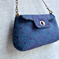 Small Handbag - Blue Purple Purse - Evening Bag