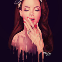 20x30 &quot;Plastic&quot; (Lana Del Rey) Digital Art Print