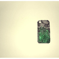 Limited Edition Christmas Edition Ombre iPhone in Christmas Green glitter