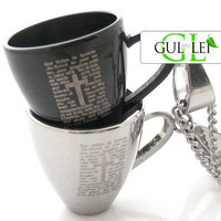 Coffee Cup Titanium Couple Necklace - GULLEITRUSTMART.COM
