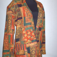 Vintage 1980s Blazer Multicolored Oversize Fit