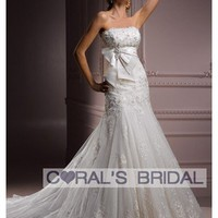 WD12091 Allure strapless flare tulle wedding dress Desia coralsbridal