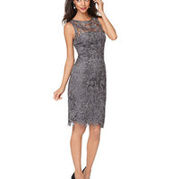 Adrianna Papell Dress, Sleeveless Lace Sheath - Womens Dresses - Macy&#x27;s
