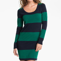 BP. &#x27;Rugby Stripe&#x27; Sweater Dress (Juniors) | Nordstrom
